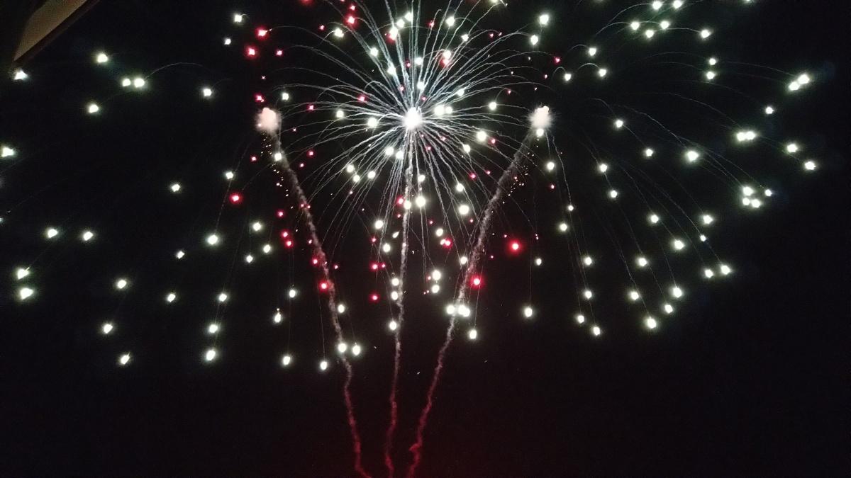 Helgoland mit Feuerwerk undNick